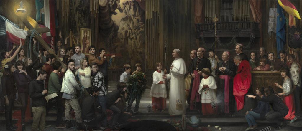La Cruz del Jubileo | 2016. Óleo sobre lienzo. 700 x 300 cms